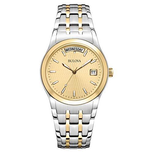(Bulova Men's 98C60 Two-Tone Bracelet Watch)