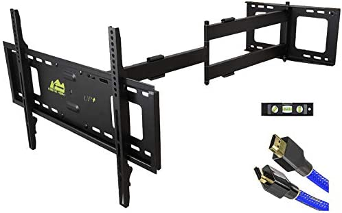 FORGING MOUNT Long Arm TV Mount Full Motion TV Bracket with 42 inch Long Extension Articulating TV Wall Mount for 37 to 80 Inch Flat/Curve TVs, VESA 600x400mm Compatible, Holds as much as 100 lbs
