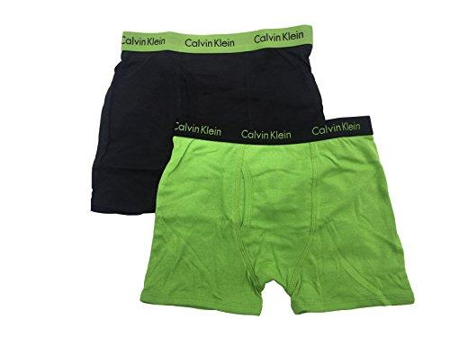 Pack Boxer Briefs (Medium/8-10, Obsidian(27D67157-99)/Green) (Obsidian Apparel)