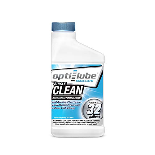 (Opti-Lube Single Clean Diesel Fuel System/Injector Cleaner: 1 8oz Bottle Treats up to 32 Gallons)