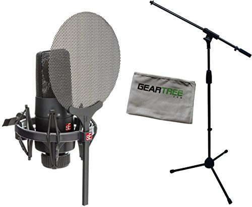 SE Electronics X1SVP X1S Vocal Pack w/ Condenser Microphone, Shock Mount, Pop Filter, Cable, Geartree Cloth, and Mic Stand by SE Electronics