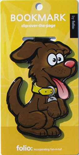 Dog Bookmarks (Clip-over-the-page) Set of 2 - Assorted colors