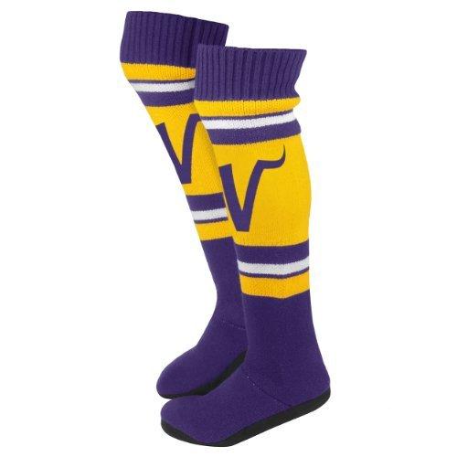 2013 Nfl Fotboll Kvinnor Knee Hög Stickad Boot Tofflor Minnesota Vikings