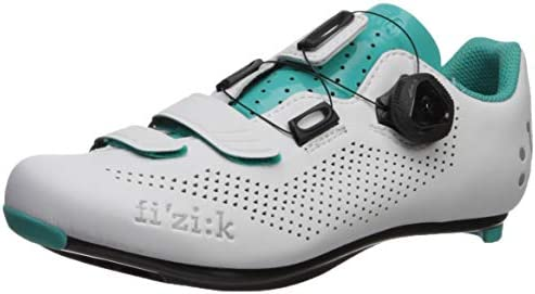 low priced 31b5e 0e9c8 Fizik Women's R4 Donna BOA Road Cycling Shoes, White/Emerald ...