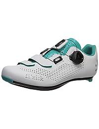 Fizik R4 Donna Boa - Zapatillas de Ciclismo para Mujer, Color Blanco/Verde Esmeralda, Talla 36, Color Blanco/Verde Esmeralda