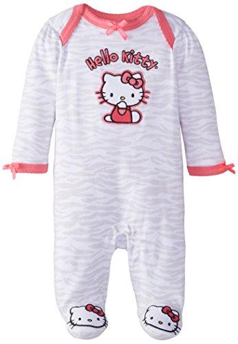 Hello Kitty Baby-Girls Newborn Zebra Print Coverall