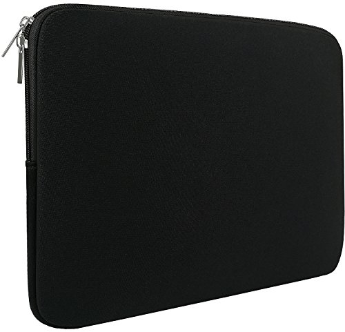 Naukay Laptop Sleeve Case 15.6 Inch,Resistant Neoprene Laptop Sleeve/Notebook Computer Pocket Case/Tablet Briefcase Carrying Bag Compatible Asus/Dell/Fujitsu/HP/Sony/Toshiba/Acer/Fujitsu- (Black)