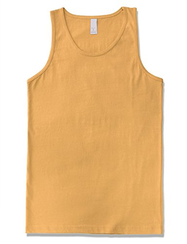 JD Apparel Men's Premium Basic Solid Tank Top Jersey Casual Shirts M Squash