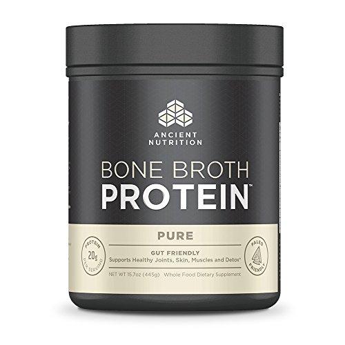 Ancient Nutrition Bone Broth Protein, Pure Flavor, 20 Servings Size (Center Drive Bone)