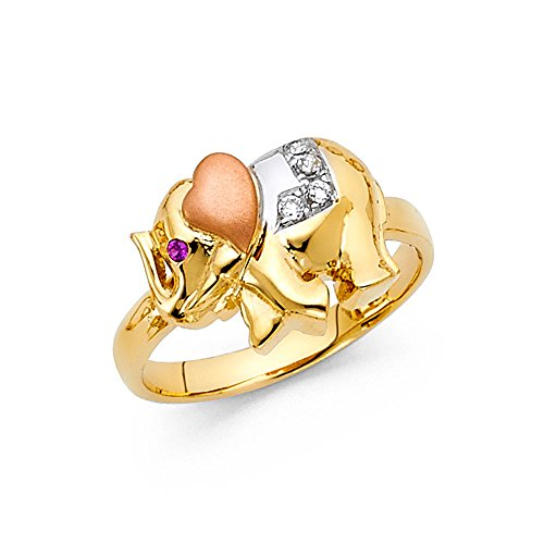 Elephant Tri Color Ring - 2
