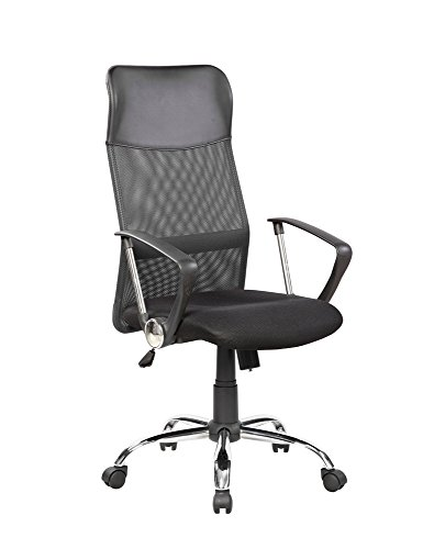 EuroStile High Back Office Executive Swivel Chair with Lumbar Support 8074 Black
