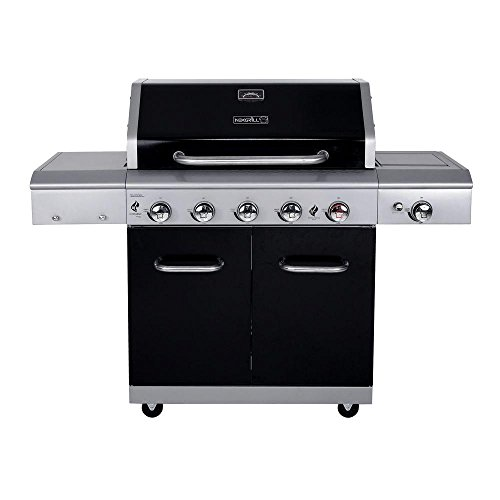 Deluxe 5-Burner Propane Gas Grill in Black with Side Burner and Built-in Searing Zone by Nexgrill