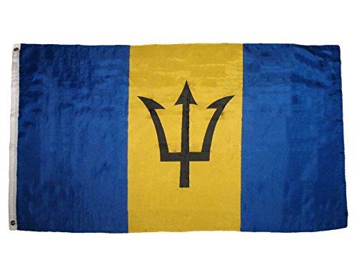 barbados flag caribbean country banner