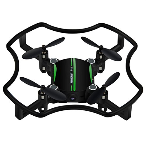 Dreamyth F19 Mini Drone Aititude Hold Smart Voice Quadcopter 2.4G 4CH 6AXIS RC Helicopter (Green) by Dreamyth