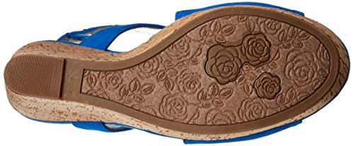 Sandal Wedge Women's by Carlos Carlos Blue Malor Santana TWZqU