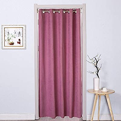 Patio Sliding Door Curtain Thermal Grommet Blackout Curtains Keep Warm Draperies Sliding Glass Door Drapes For Sliding Doors Dining Room Purple W150xh200cm 59x79inch Buy Online At Best Price In Uae Amazon Ae