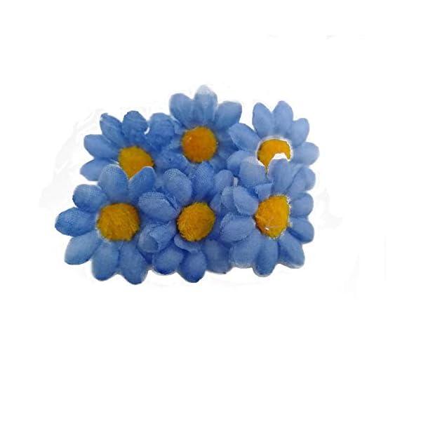 Fabric-Daisy-Flower-Heads100Pcs-Artificial-Gerbera-Daisy-Fake-Flowers-Heads-Sunflower-for-Easter-Bonnet-DIY-CakeWedding-Party-Decorations-Flowers-Craft