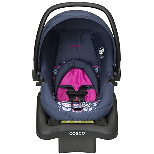 Cosco Light N Comfy DX Infant Car Seat, Pink Poppy Field
