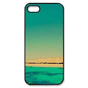 Light Blue Ocean Watercolor style Cover iPhone 5 and 5S Case (Beach Watercolor style Cover iPhone 5 and 5S Case)