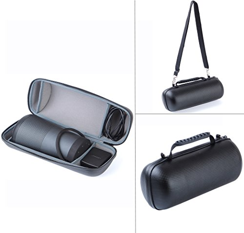 Carry Travel Cover Case for Bose Soundlink Revolve+ Bluetooth Speaker -Extra Space for Power Supply and USB Charging Cable