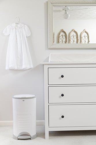 Dekor Classic Hands-Free Diaper Pail, White