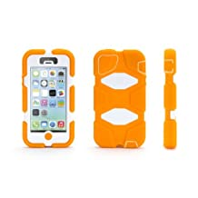 Griffin Orange/White Heavy Duty Survivor All-Terrain Case for iPhone 5/5s, iPhone SE - Impact Resistant Military-Duty Case