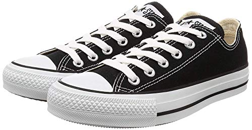 Converse Unisex Chuck Taylor All Star Low Top Sneaker (10.5 M US Women / 8.5 M US Men, Black)