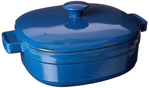KitchenAid KCLI40CRNB Streamline Cast Iron 4-Quart Casserole Cookware - Spring Blue Kitchenaid Porcelain Enamel