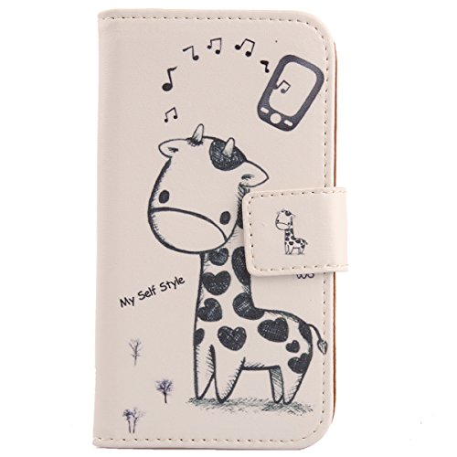 Lankashi Pattern Design Leather Cover Skin Protection Case for Archos 40 Cesium (Giraffe)