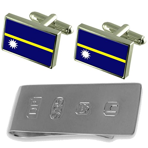 Cufflinks Nauru Nauru Flag Clip Bond James amp; Flag Money xxpSqvF