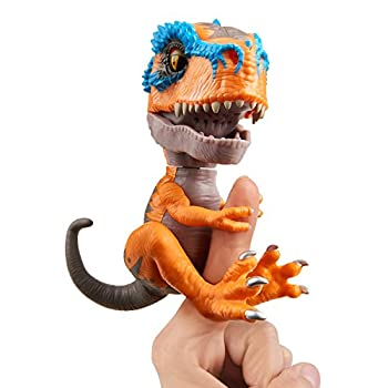 Untamed T-Rex by Fingerlings – Scratch (Orange) – Interactive Collectible Dinosaur – By WowWee