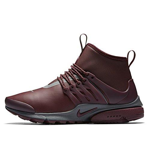 Nike Womens Air Presto Mid Utility Hi Top Trainers 859527 Sneakers Shoes (UK 5.5 US 8 EU 39, Night Maroon 600) (Top Womens Boots Nike Hi)