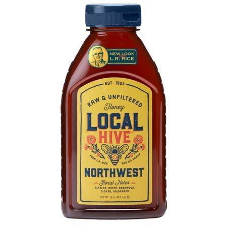 (L.R. Rice 100% Pure Honey Raw & Unfiltered, Local Northwest, 16oz)