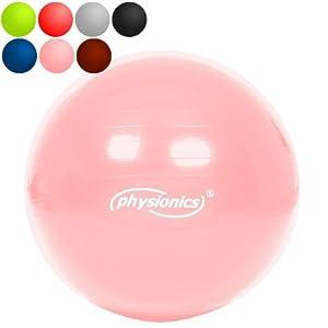 Gymnastikball 95cm Coral Almond (rosa) Fitness- / Sitzball inkl. Pumpe