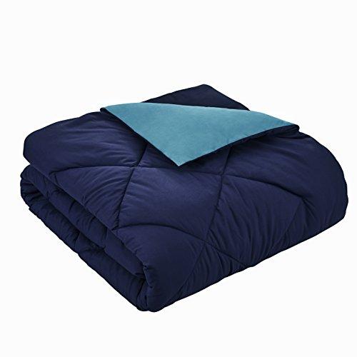 Seward Park Reversible Microfiber Comforter (Twin XL, Navy/Blue)