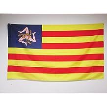 AZ FLAG Sicily Independentist Flag 2' x 3 a Pole - Sicilian nacionalist Flags 60 x 90 cm - Banner 2x3 ft Hole