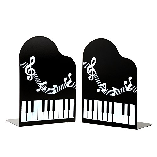 1pair piano music river art bookends bookends gift black accessories studio live buy - Piano bookends ...