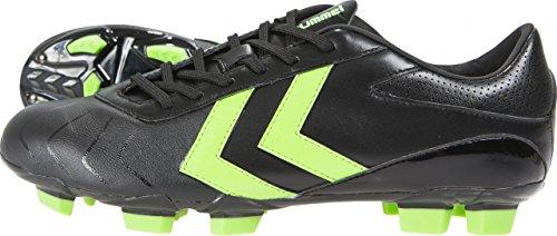 Hummel Rapid X Blade SMU Chaussures de Football Noir Black–Green Gecko, 38(UK 5)