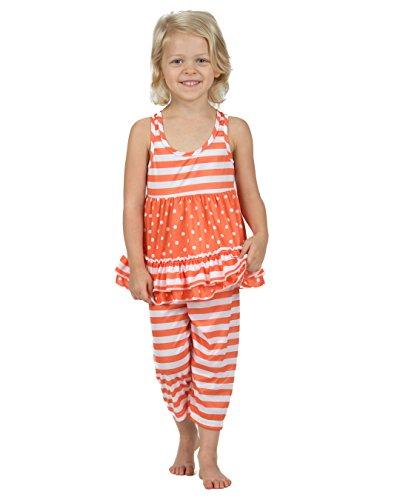 Laura Dare Baby Girls Tangerine Dreams Racerback Capri Pajamas