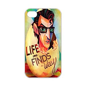 Chic Eden Jurassic Park Life Finds Way Custom Case for iPhone 4,4S 100% TPU (Laser Technology)