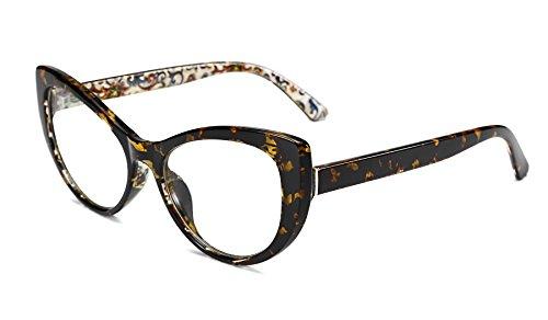 Womens Optical Eyeglass Frame - FEISEDY Women's Cateye Printed Optical Eyewear Non-prescription Eyeglasses Frame B2441
