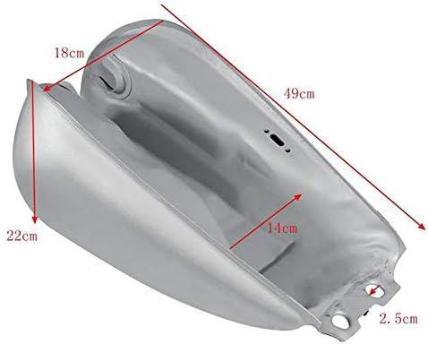 Argent CamKpell R/éservoir de gaz Universel de r/éservoir de gaz Universel de r/éservoir de Carburant de Haute Performance Bobber pour Suzuki GN125 GN250 GN Facile /à Installer