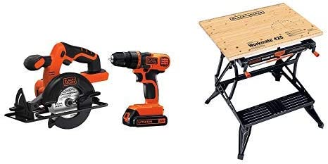 BLACK DECKER 20V MAX Cordless Drill Driver Combo Kit w Saw BD2KITCDDCS