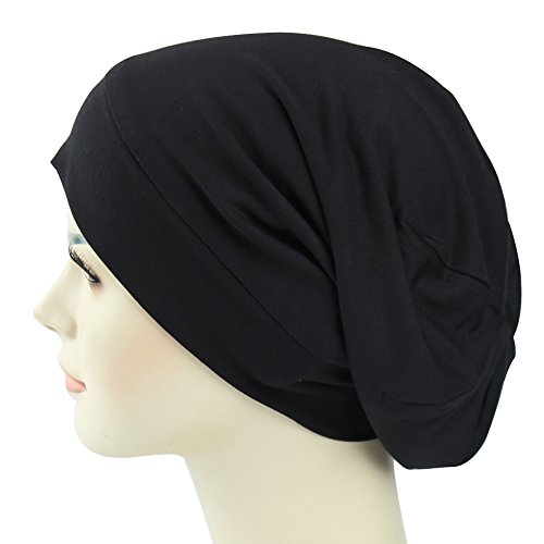 Beanie Mens Casual Hats - Satin Lined Sleep Cap For Long Hair Girl Casual Slouchy Beanie Wig Accessories Headwear