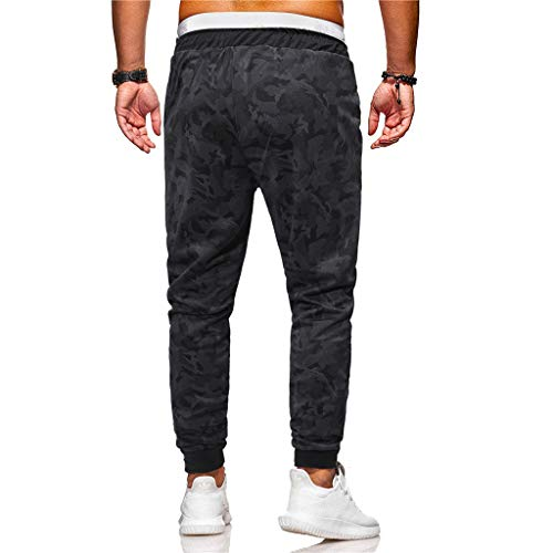 Noir Holywin Sportives Hommes Pantalons Camouflage À Survêtement Pantalon De Des Articulations Mode D'arrimage Pour La vwxv64qFr