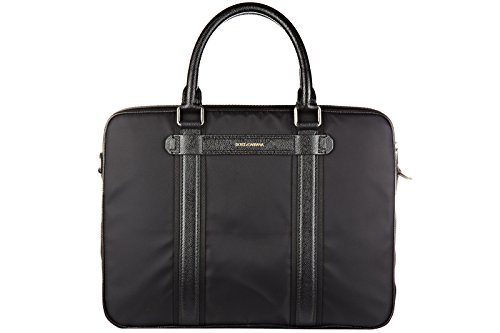 Dolce&Gabbana Aktentasche Tasche Dokumententasche Laptoptasche Nylon Schwarz