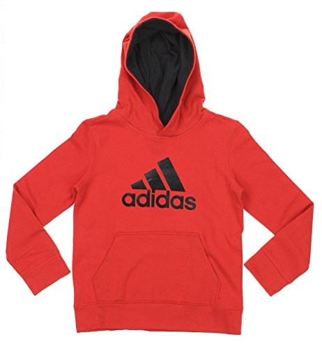 Adidas Big Boys Youth Game Ready Pullover Fleece Hoodie, PO Red Black