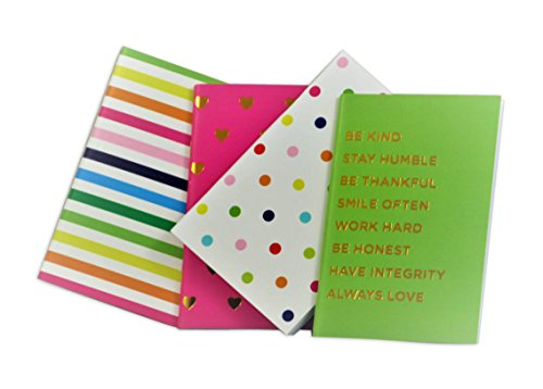 Colorful Mini Lined Notebooks Journals - Set of 4