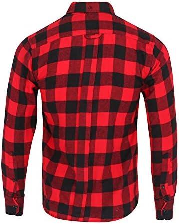 ZenRetro Hombre Camisa Estilo leñador Grunge 100% algodón L: Amazon.es: Ropa y accesorios