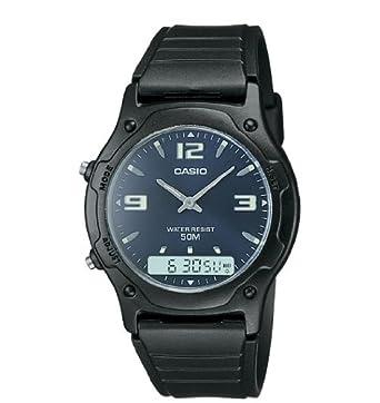 5892eca91 Casio Men's Analog-Digital Dual Time Watch, Water Resistant 50 Meters, with  Alarm